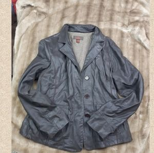 Genuine leather jacket vintage spring fall